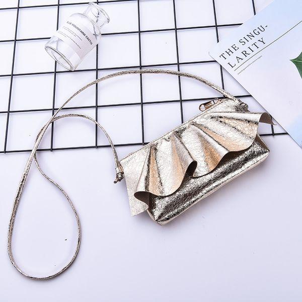 Nuovi bambini borsa per bambini Lotus Edge Glisten Satchel cellulare pieghettato borse a tracolla ragazza mini personalità moda 13et N1