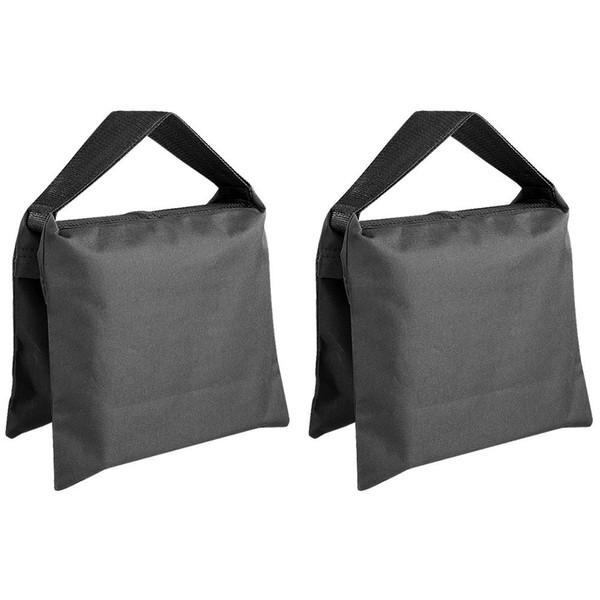 Heavy Duty fotográfico Sandbag Estudio de vídeo de arena bolsa de Luz Stands, Boom, trípode -2 paquetes de Ajuste