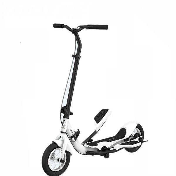 TARCLE 10 дюймов воздуха педаль педаль Fold скутер фитнес-степпер углерода скутер 16 км / ч