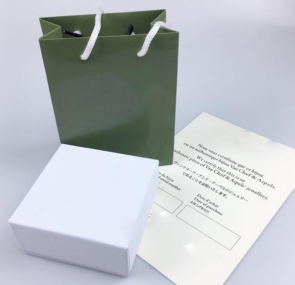 e0ccd061d High quality original box necklace box designer green four-leaf clasp box  necklace gift package with certificate hangbag
