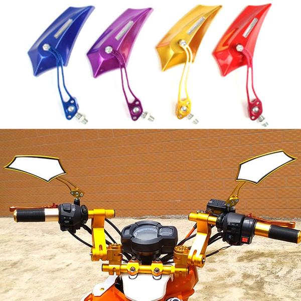 2pcs / Paire 8 mm / 10 mm pour moto en alliage d'aluminium Rearview Mirror moto bricolage Miroir de côté Moto Rearview Moto