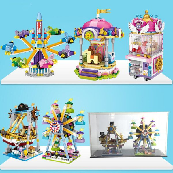 best selling Funny Building Blocks Amusement Park Figures Toys Mini Action Figures Bricks Gifts for Kids 5 Styles