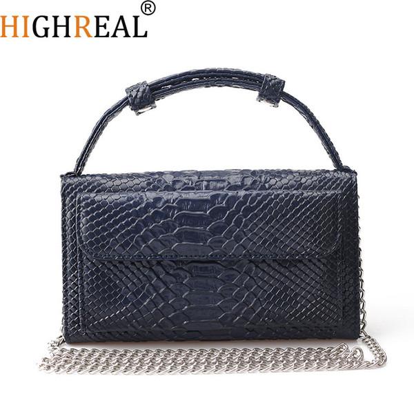 Cowhide Genuine Leather Women Messenger Bags Chains Crossbody Bag Female Fashion Shoulder Bags for Women Clutch Small Handbags