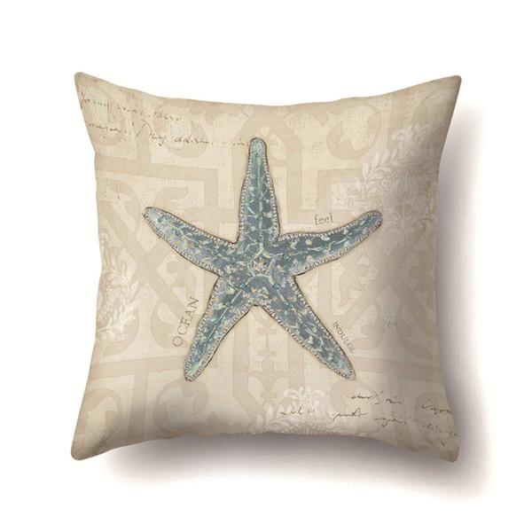 Hot Home Textiles Oreiller décoratif canapé taie d'oreiller organisme marin avec fourrure de pêche créatif siège social voiture taie d'oreiller style simple Coussin