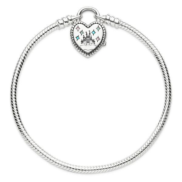 925 sterling silver Pandora fantasy world castle heart-shaped bracelet buckle bracelet pendant suitable for beads charm jewelry 22cm