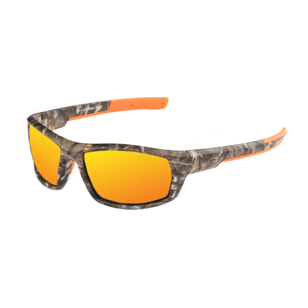European and American topselling sport polarizers sport film Sunglasses camouflage glasses manufacturers direct sales 8621