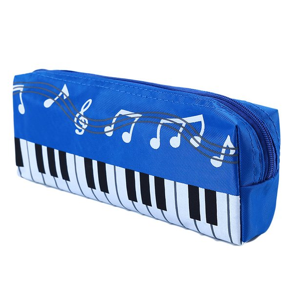 Hot New Lovely Musical Piano Keyboard Pencil Case Stationery Office School Supplies Music Pen Bag Box Storage Bag Cosmetic