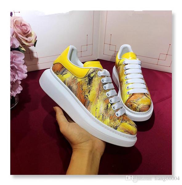 Neue Saison Designer Schuhe Mode Luxus Frauen Schuhe Herren Leder Lace Up Plattform Übergroße Sohle Turnschuhe Weiß Schwarz Casual XY190612