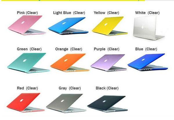 Ordinateur portable Macbook Netbook givré mat caoutchouté avant + arrière Housse de protection pour PC 11.6 Air 13 13.3 15.4 Pro Retina