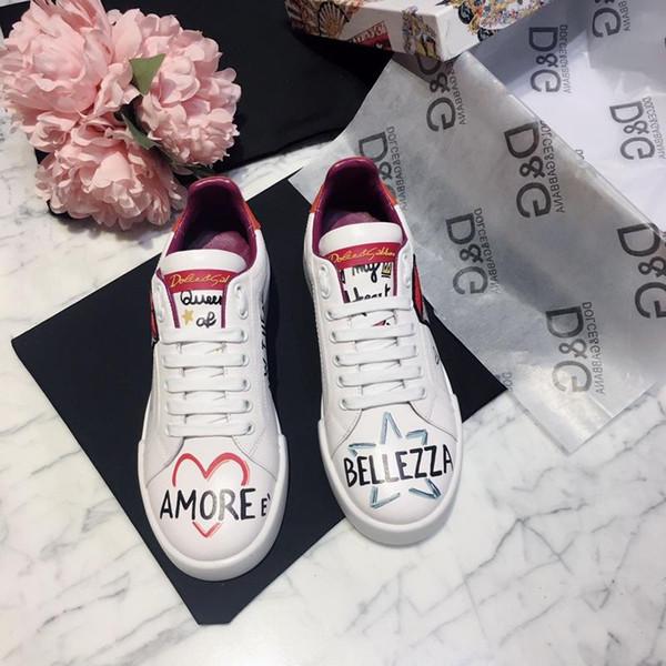 2019A neue benutzerdefinierte Marke Luxuxdamen Freizeitschuhe, Mode wilde Sportschuhe, lederne bequeme Schuhe der Frauen Original-Box-Verpackung