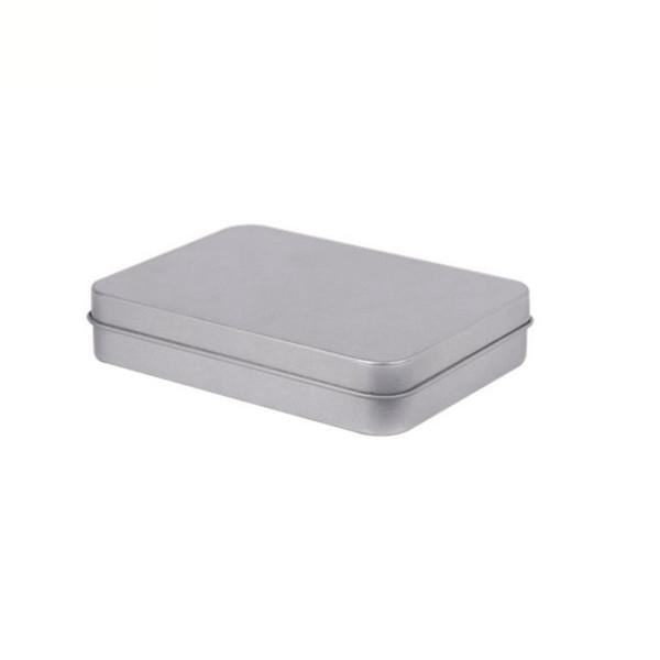 Contenedores con bisagras rectangulares con tapa Metal Mini caja de lata vacía Organizador de almacenamiento resistente al desgaste Hogares PPA420