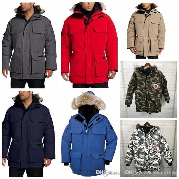 19goose winter down hooded down jacket camouflage pattern china canada us mens women zippers warm down jacket outdoor coats high quality thumbnail