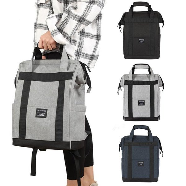 Insulated Picnic Bag Cooler Box Outdoor Opening Waterproof Backpack Large Capacity Oxford Lunch Picnic Box Hand Strip Baggage