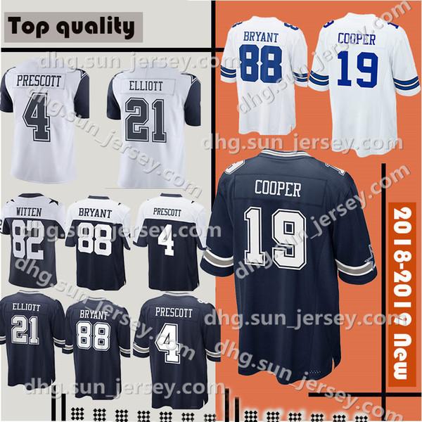 345d115f0 Dallas Men's Cowboys Jerseys 4 Dak Prescott 21 Ezekiel Elliott 55 Leighton Vander  Esch 82 Jason
