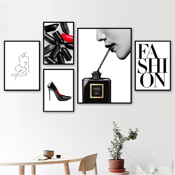 Fashion Paris Perfume Church body Art Nordic Posters And Prints Wall Art Canvas Painting Wall Pictures For Living Room Decor