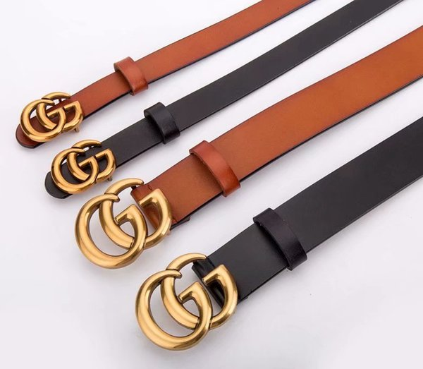 2019 men and women feel contracted damp leather have inner wear leather belt buckle hole smooth belt buckle color optional eyes