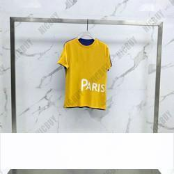 Высокая мода лето дизайнерский бренд мужская футболка одежда европа большое письмо лоскутное цвет футболки майка повседневная хлопок женская футболка