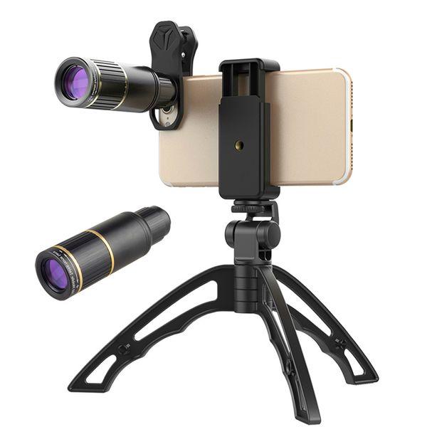 Optical Mobile Phone Camera Lens Universal 16x Telephoto Telephoto Lens Zoom Lens + Selfie Tripod for iPhone Samsung Smartphones