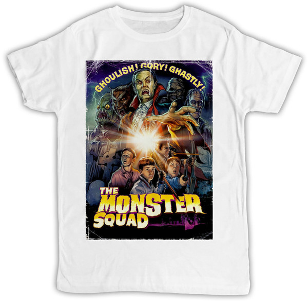 THE MONSTER SQUAD POSTER IDEAL GIFT RETRO DESIGNER SHORT SLEEVE MENS T SHIRT colour jersey Print t shirt