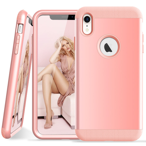 Suitable for Iphone XR PC + TPU 3-layer hybrid body shell shockproof mobile phone case Iphone XR explosion-proof mobile phone case