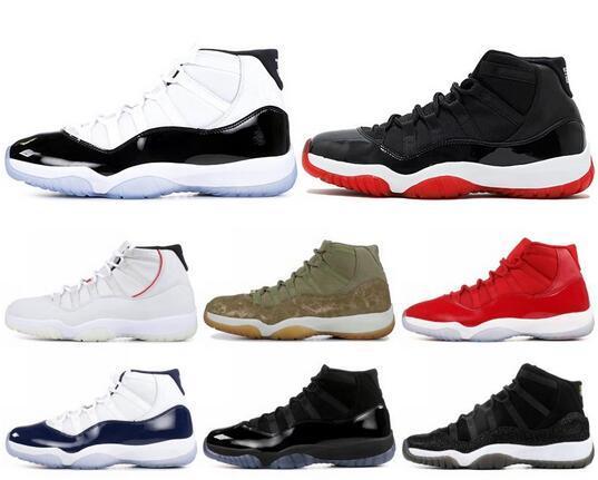 11 XI mens scarpe da basket High Concord Heiress Platinum Tint Space Jam Low UNC 11s Designer Sneakers Scarpe sportive US 5.5-13