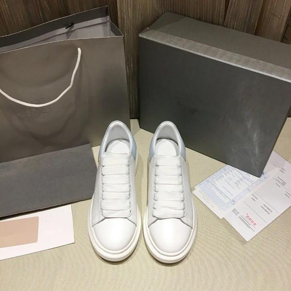Yeni Marka Casual Erkek Sneakers Mavi Hakiki Deri Buruşuk Koyun Arena Dantel-up Lüks Kanye West Eğitmenler Yüksek Üst Ayakkabı XR 35-45 13520