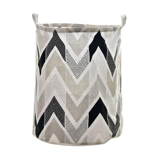 New Home Fabric Cloth Large Bucket Waterproof Storage Laundry Basket Toys Books Organizer