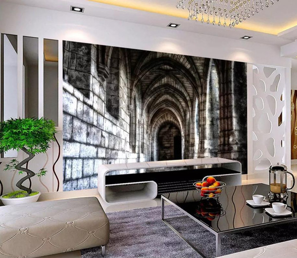 Custom Photo Wallpaper Mural 3D HD stone wall arch Wall Decorative Painting papel de parede wall papers home decor