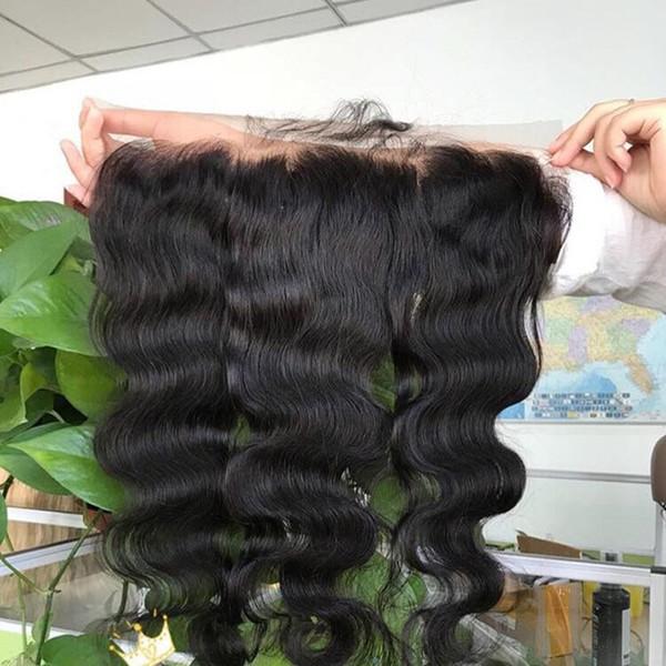 Lace Frontal Closure Ohr zu Ohr 13x4Size brasilianische Körperwelle Verschlüsse malaysische indische peruanische Jungfrau-Menschenhaar-Spitze-Spitze