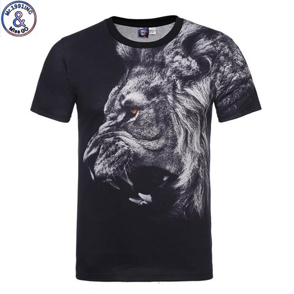 Mr.1991 Brand Special Original Design Lion King 3d Print T-shirt For Boys Or Girls Big Kids T Shirts 12-20 Years Teens Tops A54 Y19051003