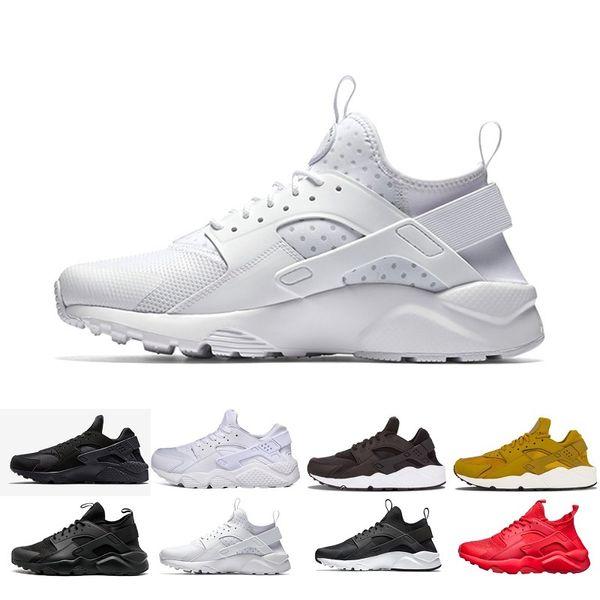 Acheter Nike Shoes Date 2019 Air Huarache IV Chaussures De Course Pour Hommes Femmes, Noir Blanc Haute Qualité Sneakers Triple Huaraches Jogging