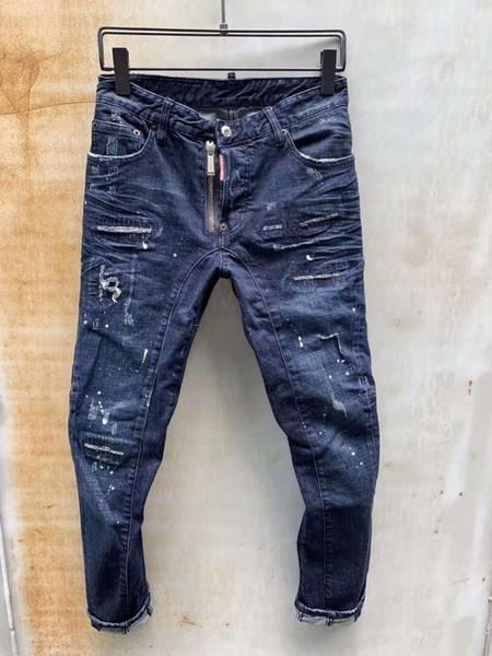 Nuova esclusiva D2019 italiana moda tratto Slim patch riparazione vernice high-end bel maschio 604 T56