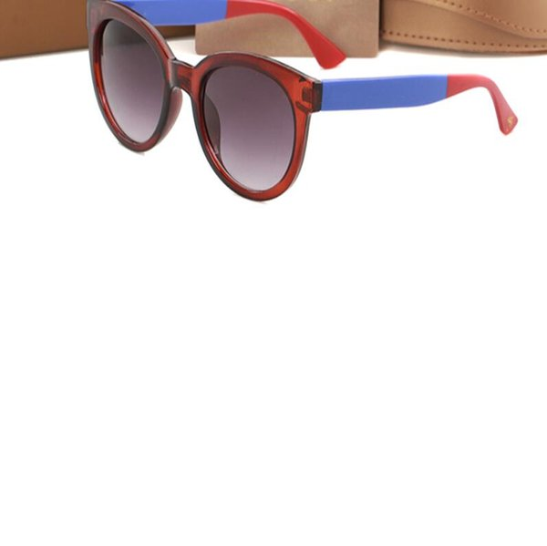 Best selling fashion fashion UV protection sunglasses women's three-color round glasses designer beach sunglasses with box1