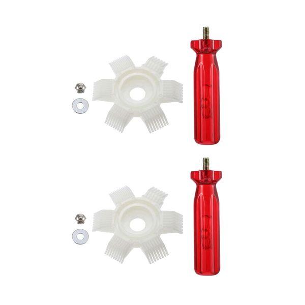 top popular 2Set 6-in-1 Plastic Air Conditioner Fin Comb Repair Tool Condenser Accessory 2020