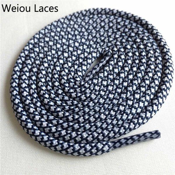 24 White-Dark Blue 120cm