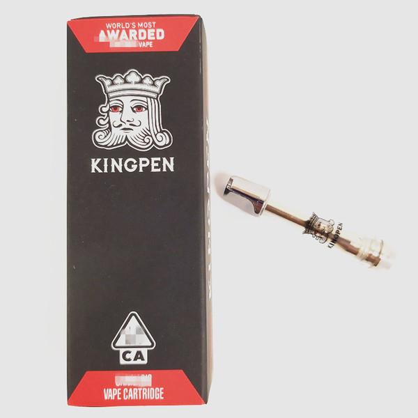 710 Kingpen Vape Cartridges ceramic coil red flavor sticker 1ML Carts gift box packing 510 thread Vape Pen Vaporizer