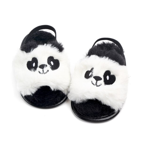 New Fashion Summer wool Cute animal Baby slippers first walkers Anti-slip Pu leather crib Girls Boys Sneakers Baby shoes