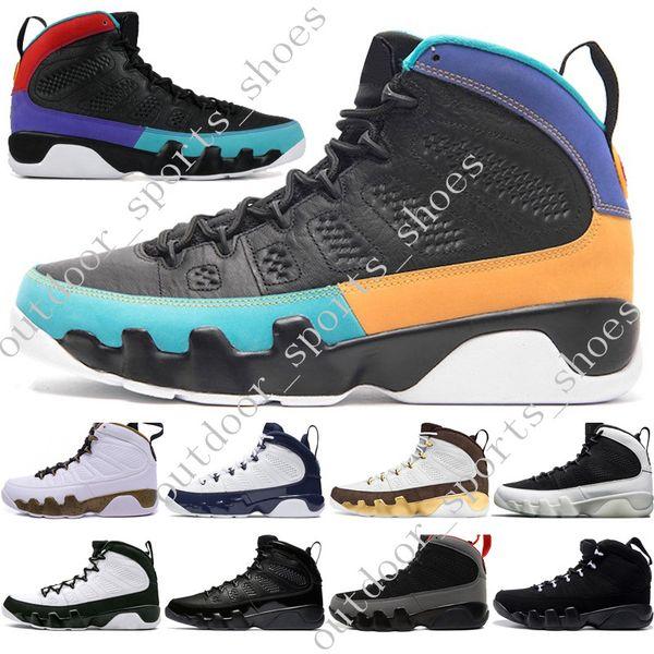Hot New 9 9 sonhar fazê-lo UNC Mop Melo Mens botas de motocicleta LA OG Space Jam homens criados antracite preto esportes tênis designer Eur 40-47