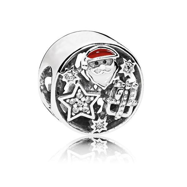 Beste Weihnachtsgeschenke Luxus Designer Pandora Schmuck Frauen DIY Charme Perlen Halsketten Armbänder Perlen Für Schmuck Machen Herz Runde Anhänger