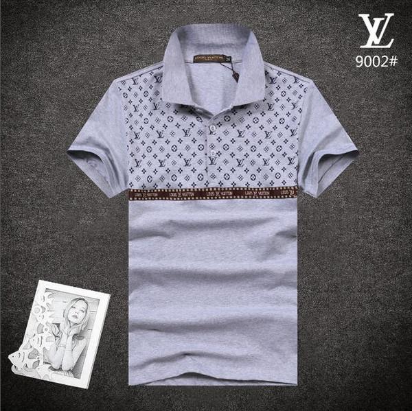 Preto 0-Neck tee 20SS Nova Moda peito Bordado Lobo Dos Homens T camisa de Manga Curta Casual t-shirt Hipster Padrão Fractal tees Tops Legal # 6699