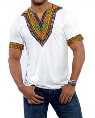 Roupa dos homens africanos roupa africana traiki homens áfrica africano de manga Curta impressão camisas para homens nigeriano roupas tradicionais