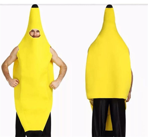 Halloween Funny Fruits Banana Superman Costumes Theme Cartoon Mascot Costumes Classic Holiday Party Costume Halloween Apparel