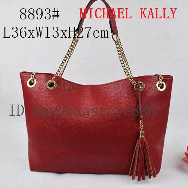 tassel women bags MICHAEL KALLY famous brand luxury lady PU leather handbags famous Designer saddle bags purse shoulder tote Bag 8893