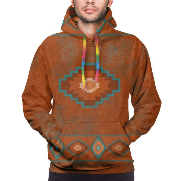 3d digital all over print western southwest canyons tribal native america mens casual hoodie hooded pullover hoody with pocket