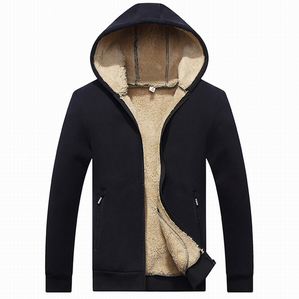 Wool Padded Sweatshirts Man winter Hoodies Men 2018 spring hot sale warm fleece high quality brand-clothing tracksuit men 964