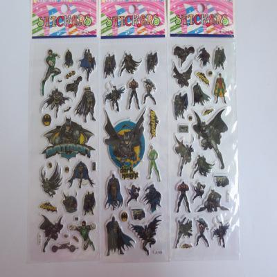 Frete grátis 100 pçs / lote 3D Dos Desenhos Animados bolha adesivo de Super-herói Batman puffy adesivo para as crianças presentes, adesivo Popular, Presente de Aniversário para crianças