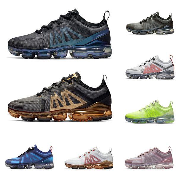 Großhandel Nike Air Vapormax 2019 Großhandel Laufschuhe Für Männer Frauen Top Qualität WURF ZUKUNFT Schwarz Soft Pink CNY Crimson Gold Herren Trainer