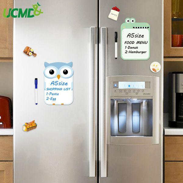 Cartoon Refrigerator Sticker Cute Fridge Message Board Memo Writing  Painting Removable Erase Sticker For Home Kitchen Gift Decor Fridge Magnets  Words ...