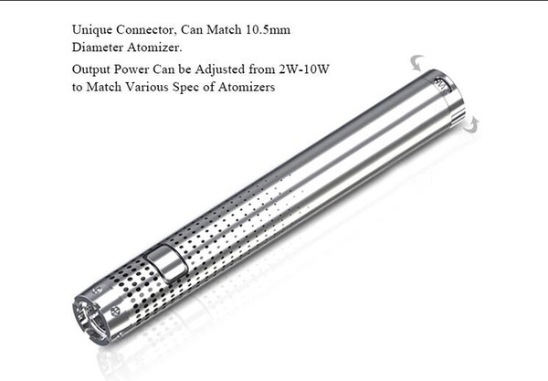 rechargeable magic puff vape pen battery 290mah bottom adjustable wattage 2w to 10w e cig 510 thread vaporizer