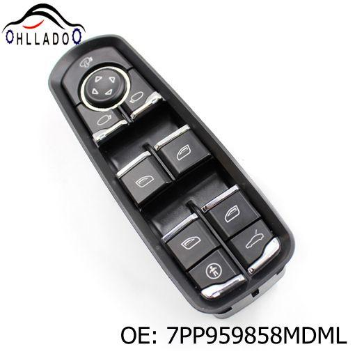 best selling HLLADO New Electric Power Window Control Switch 7PP959858MDML For P orsche P anamera C ayenne Front Door Window Switch High Quality